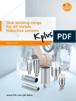 One sensing range for all metals. Inductive sensors (EN)