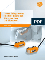 Great things come in small packages – the new tiny O8 photocell