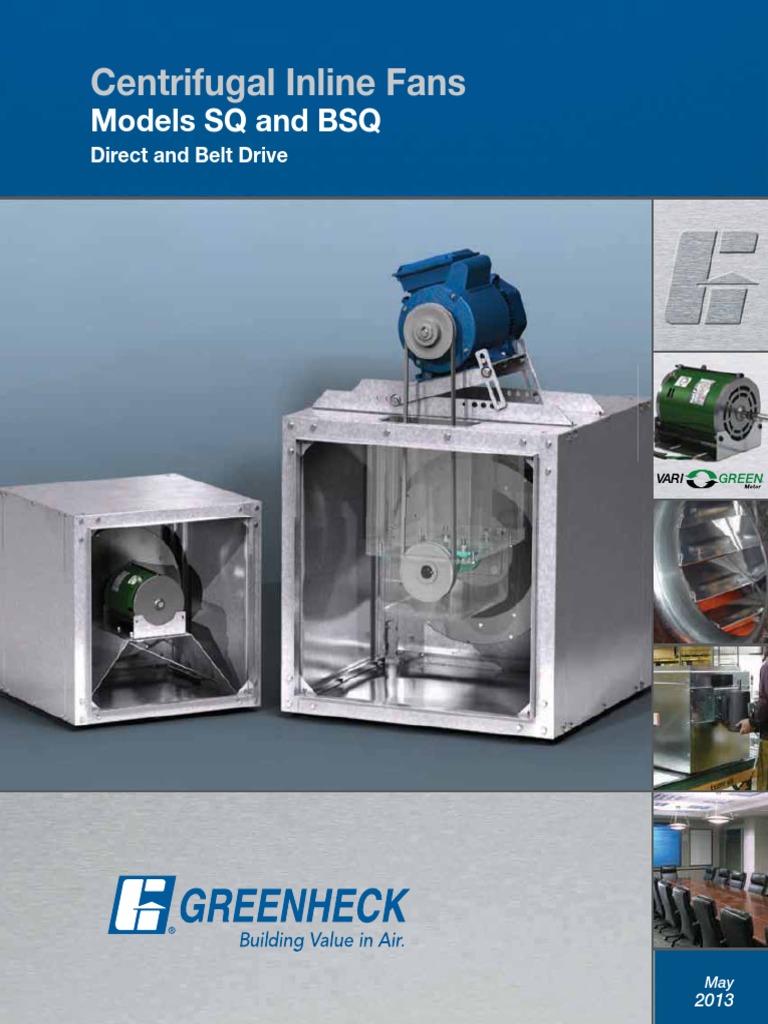 SQBSQcatalogpdf Mechanical Fan Duct Flow - Greenheck bathroom exhaust fans