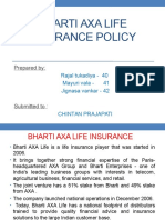 Ppt on Bharti Axa