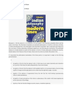 Indian Philosophy in Modern Times