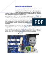 Machine Learning Course Training Online