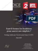 Les Enjeux Économiques Viavoice France2 RTL. Mars 2017