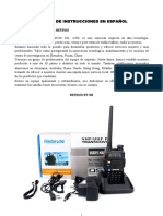 Retevis RT-5R Instruciones Español