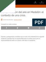 _Contaminación del aire en Medellín