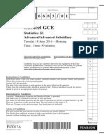June 2014 QP - S1 Edexcel