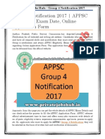 Group 4 Notification 2017 | APPSC Eligibility, Exam Date, Online Application Form