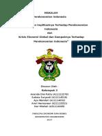 Makalah tentang MEA 2015 dan Krisis Global serta Implikasinya terhadap perekonomian Indonesia