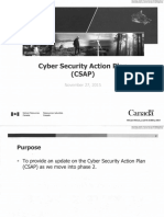 Presentation on the Cyber Security Action Plan