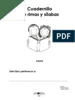 Cuadernillo de Rimas y Silabas. Kinder. Astoreca