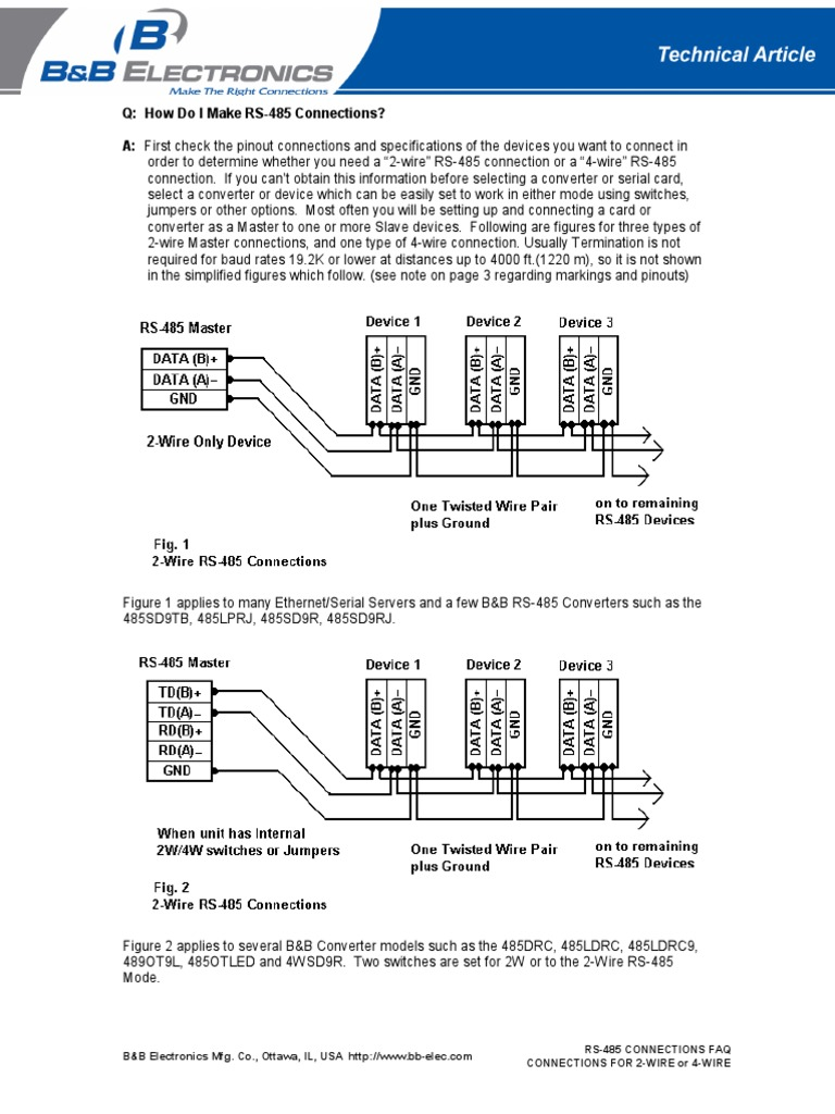 Faq Rs485 Connections Network Protocols Computer Engineering Ottawa Wiring Diagram