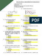 Evaluación 01 de Ensayo de Máquinas de Corriente Alterna - 2016 - I