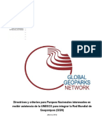 Directrices y Criterios Geoparques