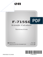 Canon F-715SG Manual