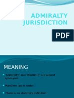 Admiralty Jurisdiction