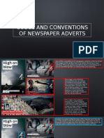 Codes and Conventions of Newspaper Adverts