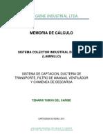 CALCULO DE COLECTORES DE POLVO