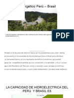 Acuerdo Energético Perú – Brasil Realidad