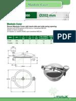 Minox 039 Round Manhole Cover Model T1200 Ø202 Mm