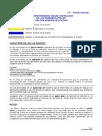 Correspondecia Ordenes AutoCAD Inglés-Español