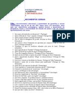 Prova - Bacharel Em Missiologia (ITG-PE)