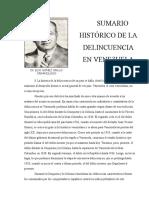 Evolución Histórica de la Delincuencia en Venezuela