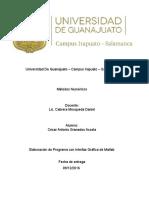 Universidad de Guanajuato Metodos Numericos