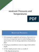 Week4 Reservoir Temperatures and Pressures