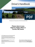 DriversHandbook-En - Prince Edward Island