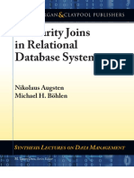 Similarity Joins in Relational Database Systems