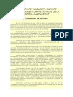 Estatuto del Sindicato Único de Trabajadores Administrativos de la Unprg