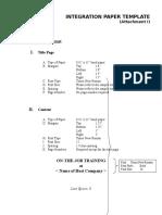 Integration Paper Template