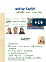 Errors, Mistakes and Correction