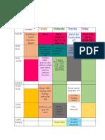 schedule week 6