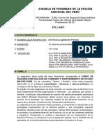 Proyecto Silabo Doctrina y Legislacion Policial Coem 2015 - Coordinador (1)