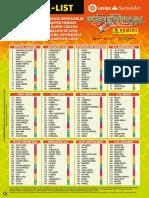 Adrenaline Liga 2016/17 Checklist