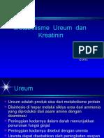 Metabolisme Ureum & Kreatinin