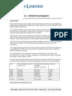 100715 - Melbourne Storm Deloitte Investigation