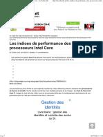 Les Indices de Performance Des Processeurs Intel Core - Le Crabe Info