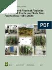 USDA Chemical Physical Analyses Plants Soils Puerto Rico 81-00