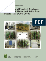 USDA Chemical Physical Analyses Plants Soils Puerto Rico 81-00