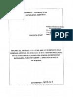 Reforma Del Artículo 11 La Ley No. 9428 Ley de Impuesto a Las Personas Jurídicas, Del 22 de Marzo de 2017, y Sus Reformas, Para Dotar de Recursos a La Dirección General de Migración y Extranjería, Para Fortalecer La Direcci
