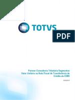 Parecer Consultoria Tributária Segmentos - TRNANH - Valor Unitário Na Nota Fiscal de Transferência de Crédito Do ICMS - MG