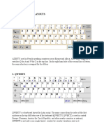 Four Keyboard Layouts