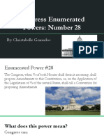 congress enumerated powers- number 28