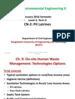CE 333 02 Pit Latrines January 2016