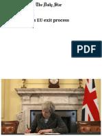 Britain Launches EU Exit Process