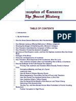 Procopyus of Cesarea - The Secret History - Contents.doc