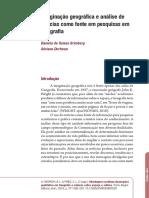 Imaginação geográfca e análise de notícias como fonte em pesquisas em Geografia 2016