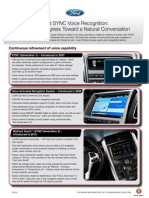 FactSheet - Ford SYNC Voice Recognition